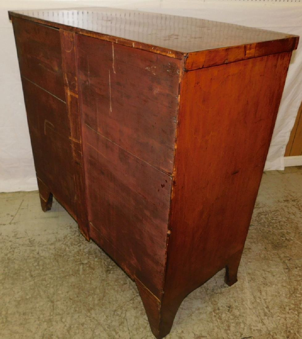 Antique Mahogany 2/3 Bow Front HW Chest - 3