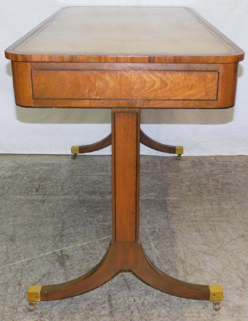Leather Top Kittinger Mahogany Writing Desk - 2