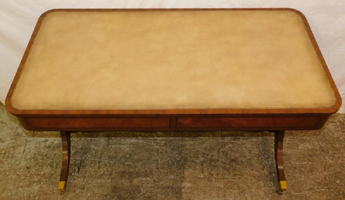Leather Top Kittinger Mahogany Writing Desk - 4