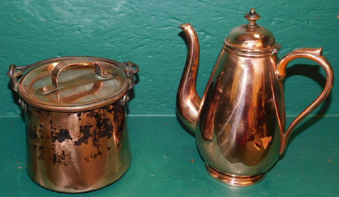 Copper Pot & Teapot