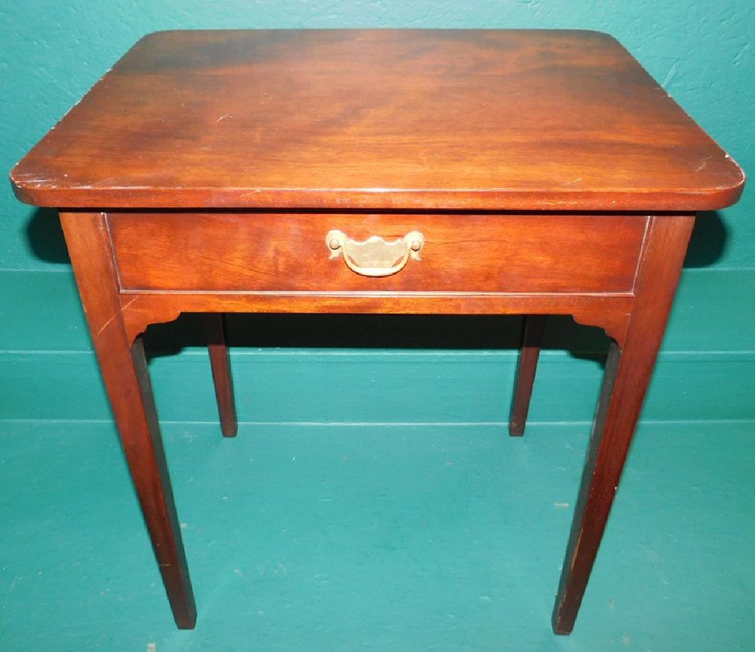 Mahogany One Drawer Stand