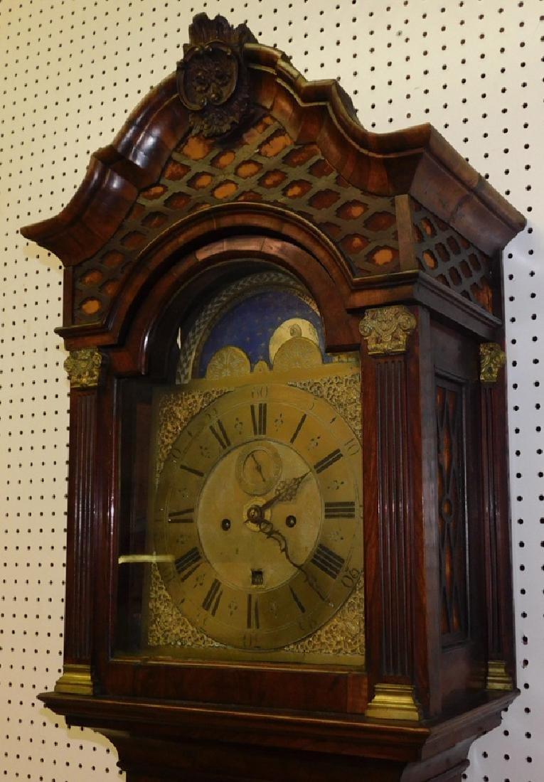 Brass Face Walnut Grandfather Clock - 2