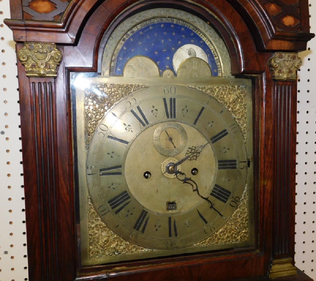 Brass Face Walnut Grandfather Clock - 8