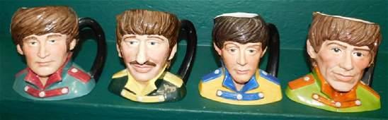 Lot 4 Beatles Royal Doulton Toby Mugs