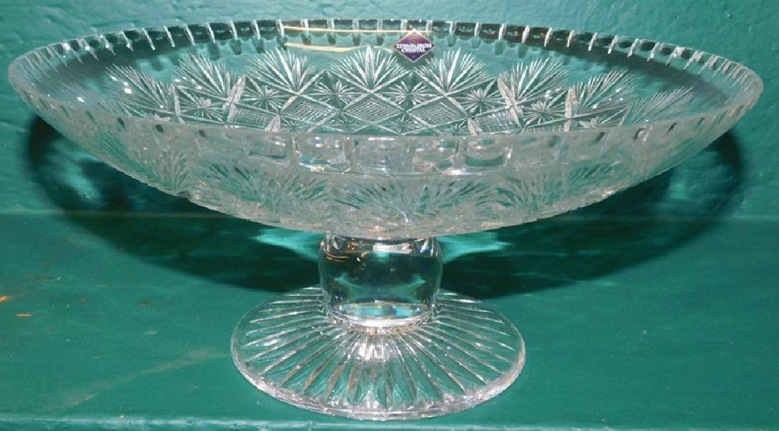 Edinburgh Cut glass Vase & Compote - 2