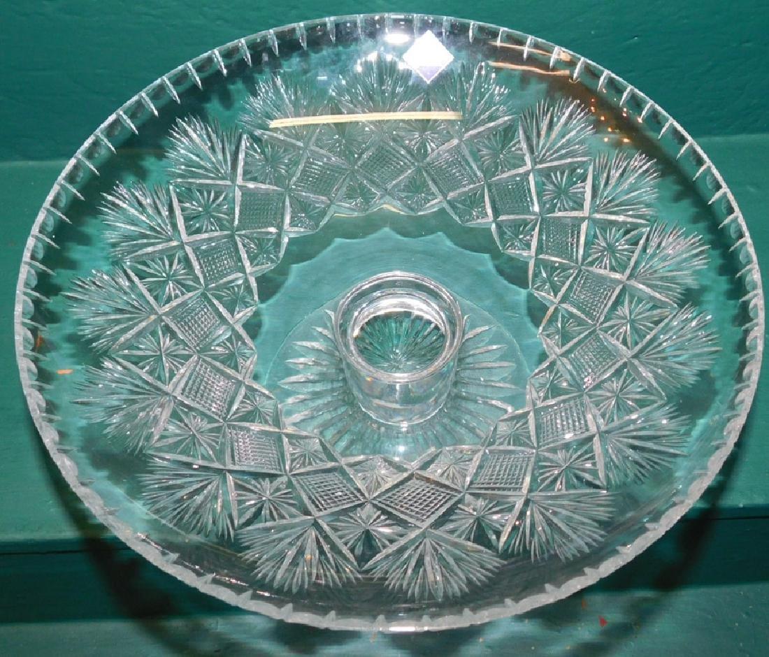 Edinburgh Cut glass Vase & Compote - 3