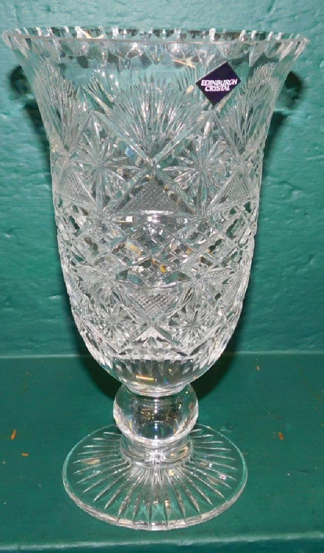 Edinburgh Cut glass Vase & Compote - 5
