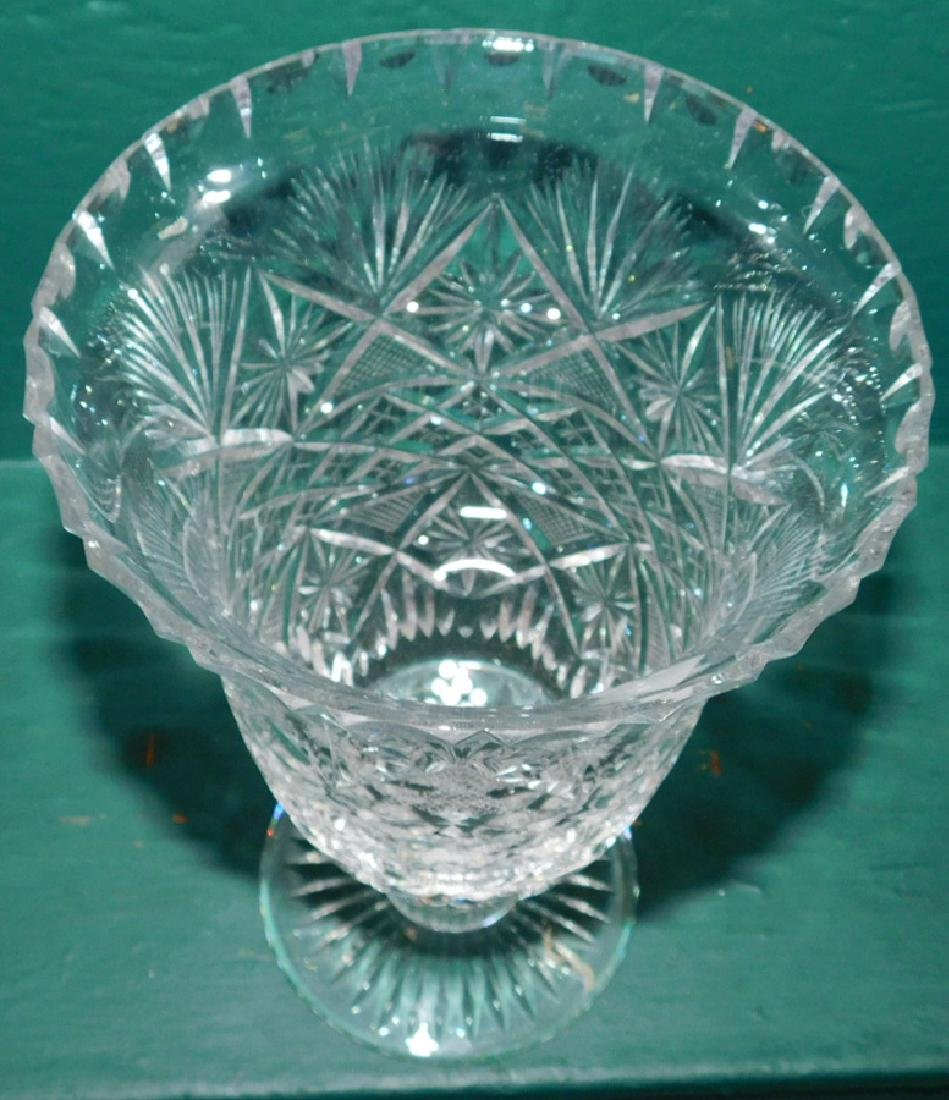 Edinburgh Cut glass Vase & Compote - 7