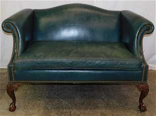 Leather Settee By Han Moore