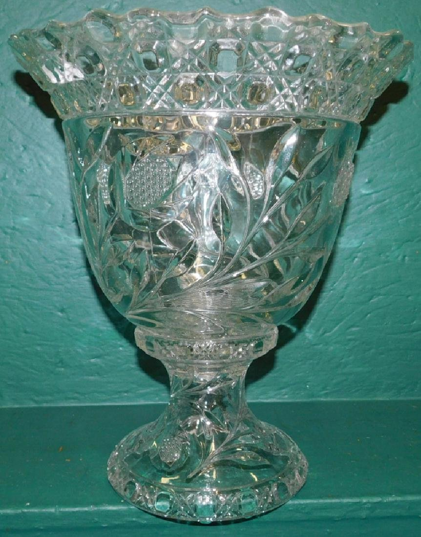 Two Piece Punch bowl On Stand - 2