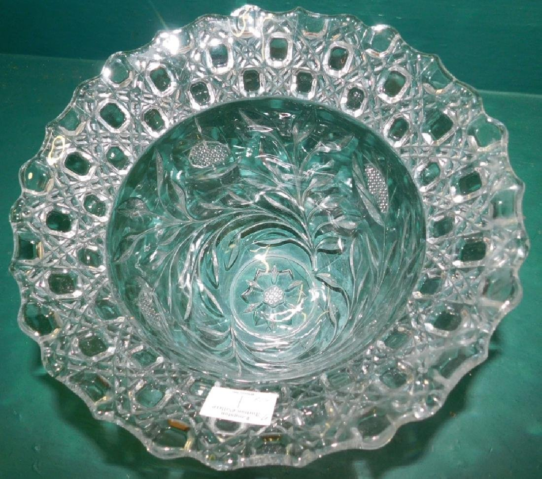 Two Piece Punch bowl On Stand - 3