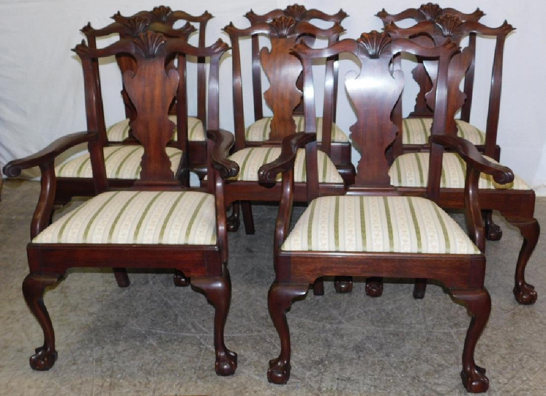 Antiques Sporting Set Six Regency Mahogany Dining Chairs With A Long Standing Reputation