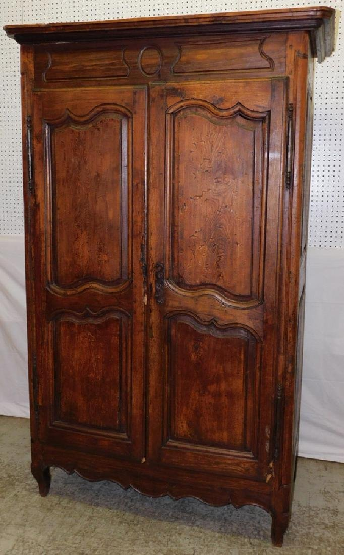 18th C French paneled door armoire