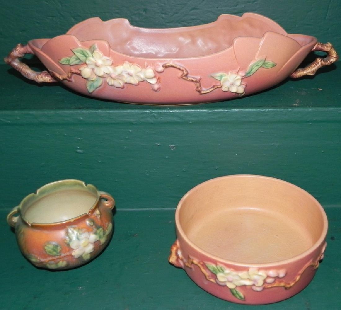 3 pcs Roseville pottery