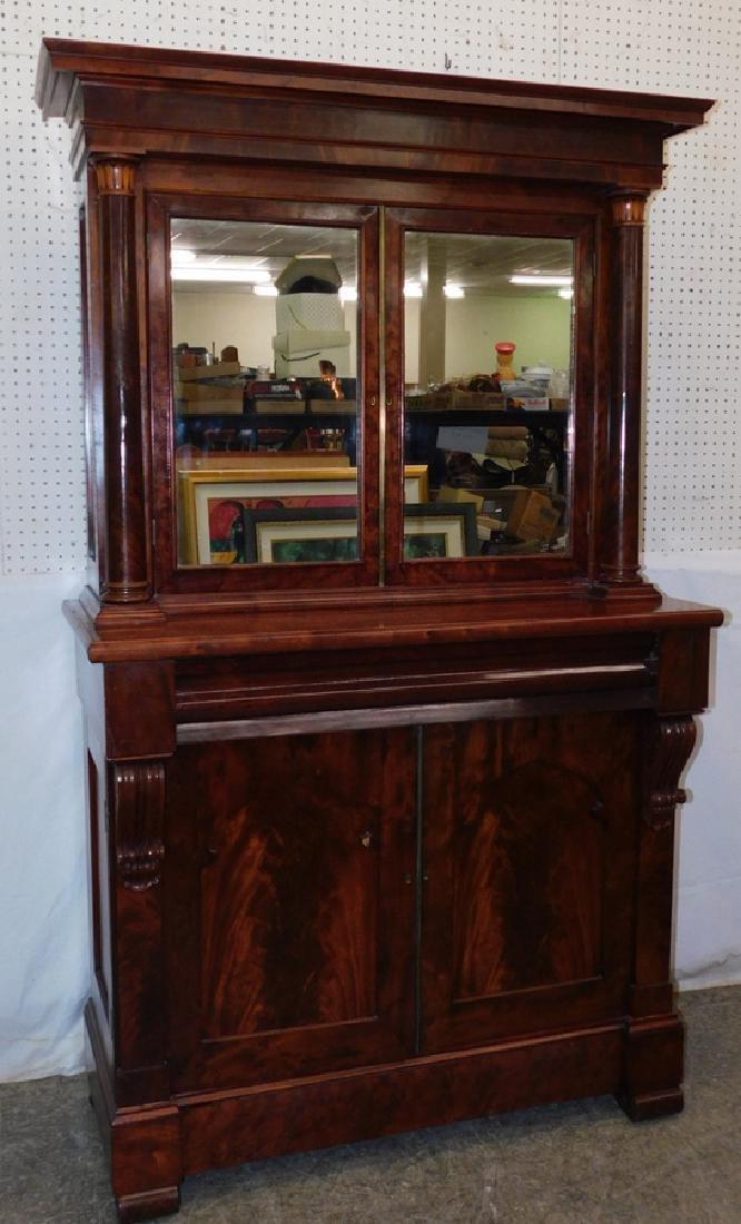 Empire mahogany stepback cupboard