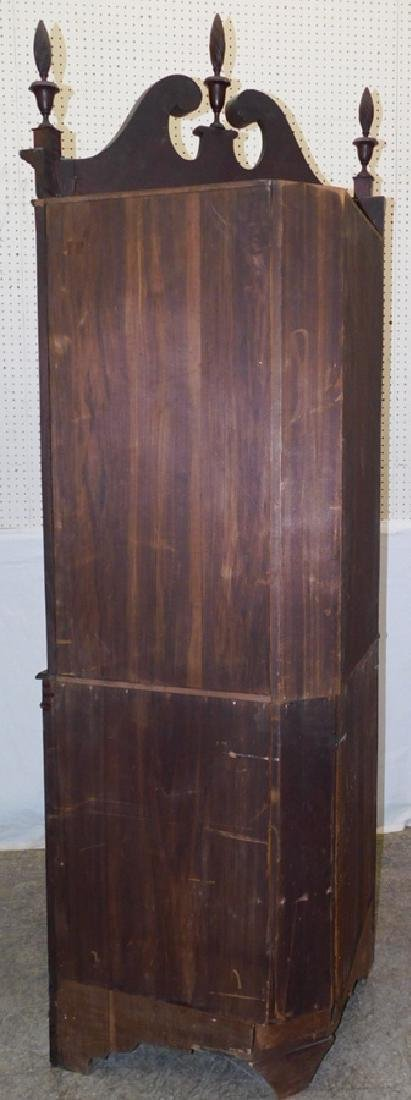 Glass front mahogany inlaid corner cupboard - 3