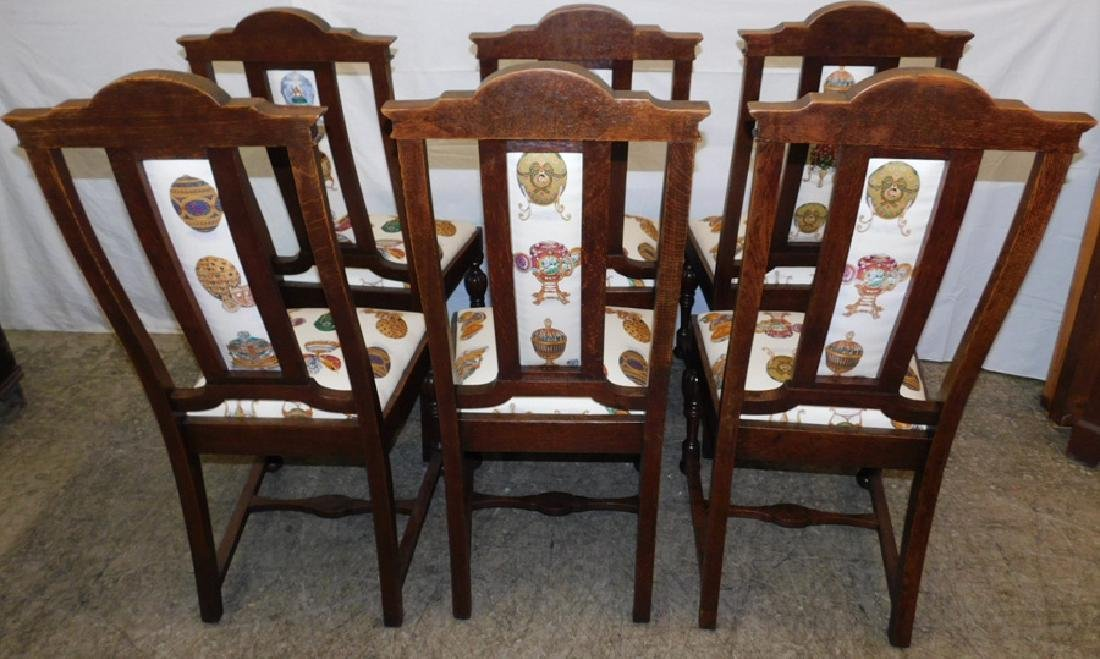 Set of 6 Edwardian oak dining chairs - 6