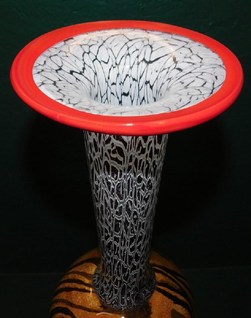 Modern art glass tall vase - 2