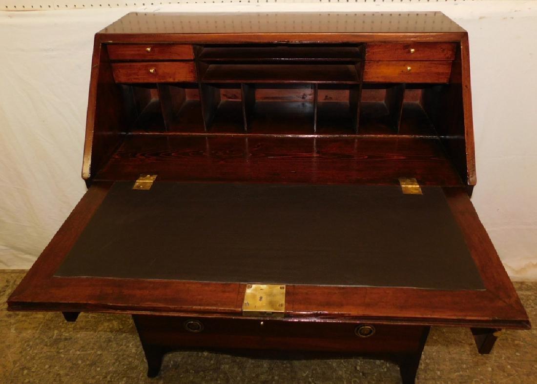 19th C mahogany fall front desk - 2