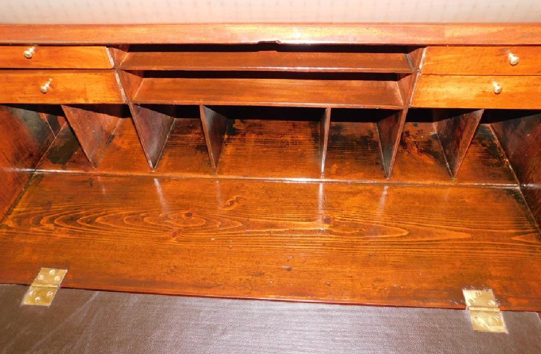19th C mahogany fall front desk - 3
