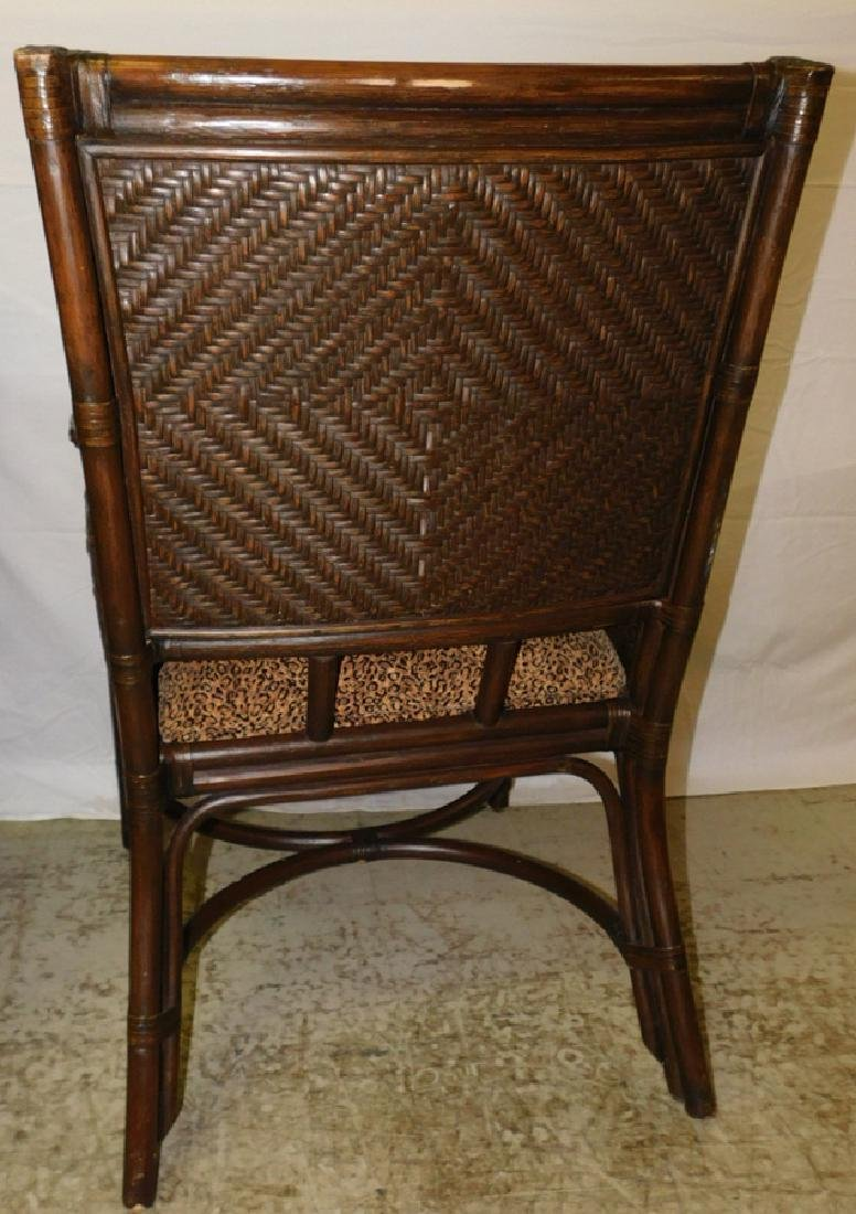 3 bamboo and cane arm chairs - 3
