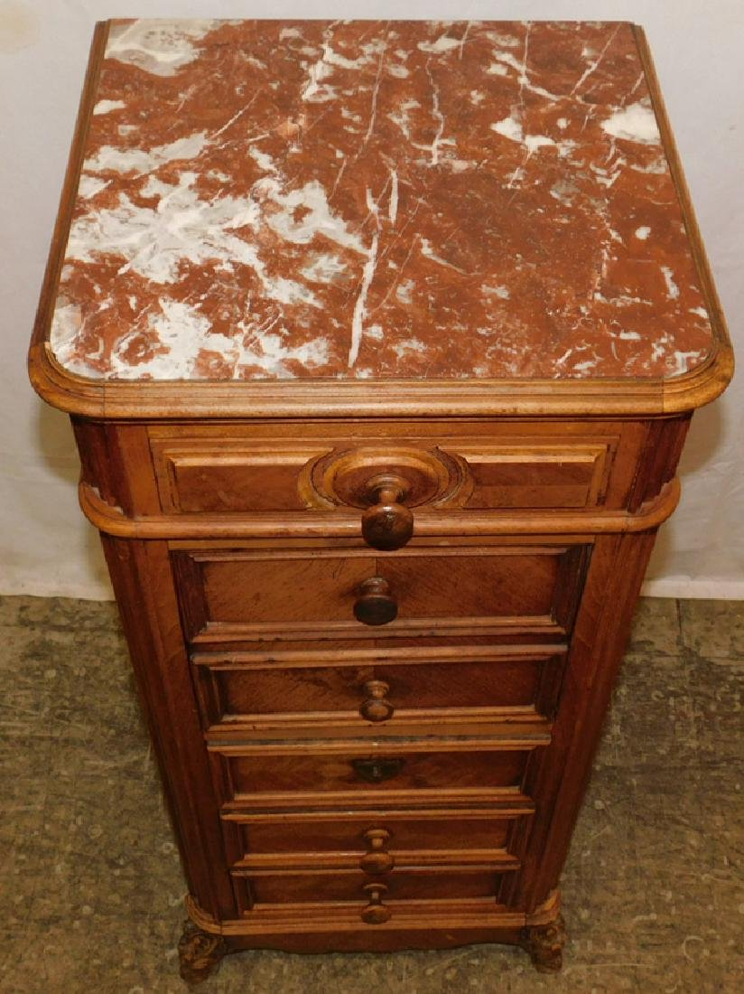 Marble top 6 drawer commode - 2