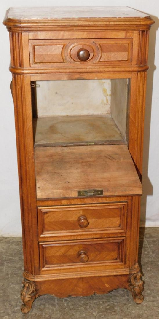 Marble top 6 drawer commode - 3