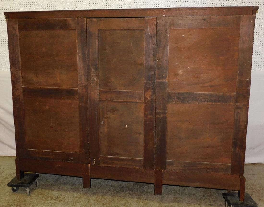 Jacobean style English oak armoire - 2