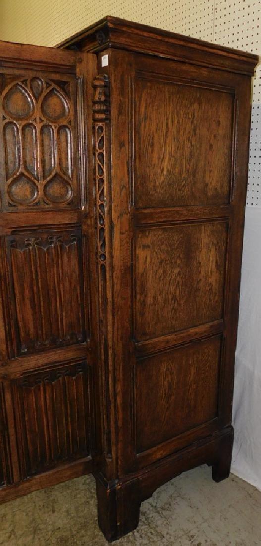 Jacobean style English oak armoire - 6
