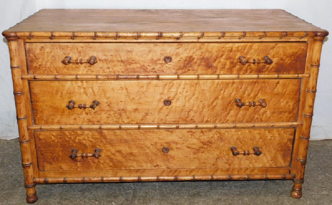 Bamboo 3 drawer commode