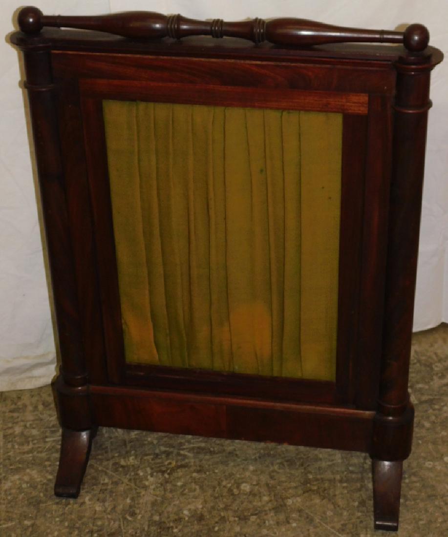 Needlepoint Empire mahogany firescreen - 4