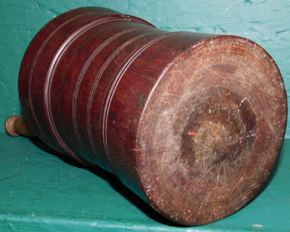 19th C wooden mortar and pestle - 3