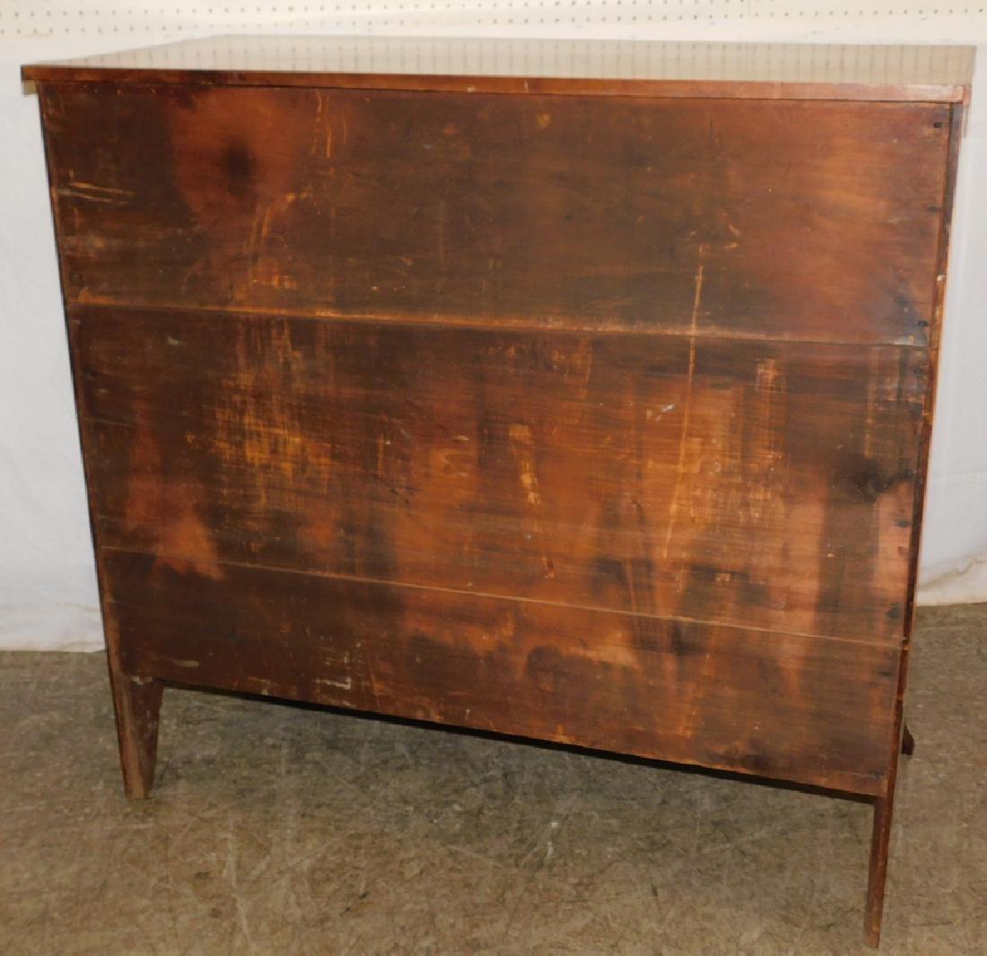 Hepplewhite mahogany 4 drawer chest - 2