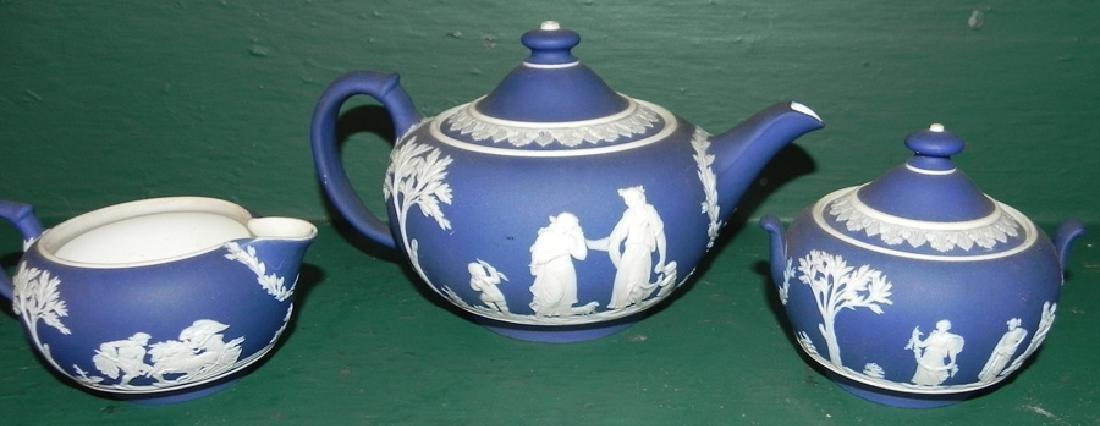 3 piece Jasperware Wedgwood tea set