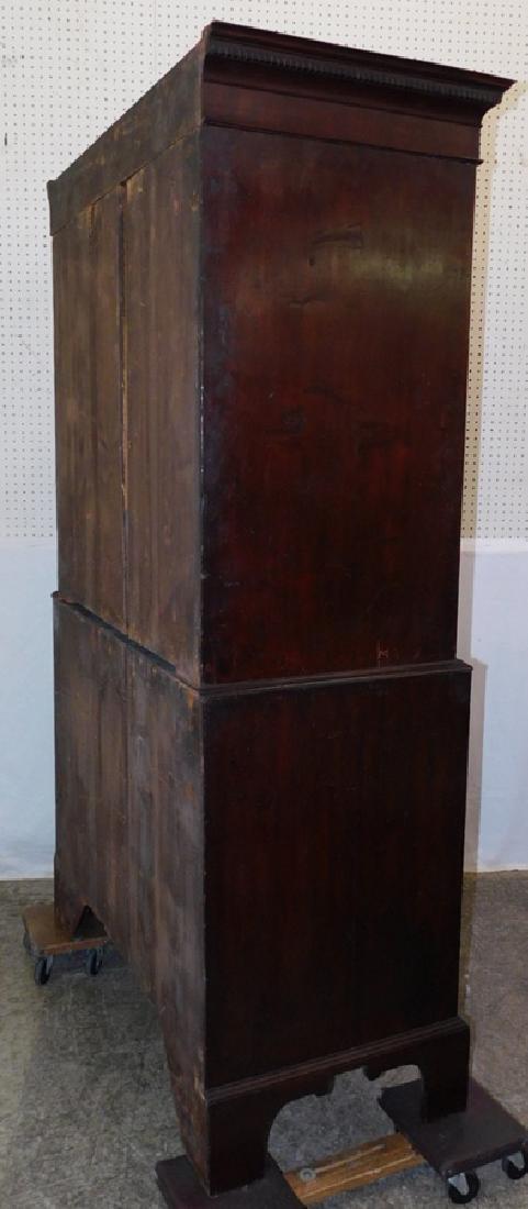 19th C mahogany chest on chest - 3