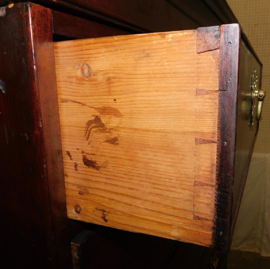 19th C mahogany chest on chest - 5