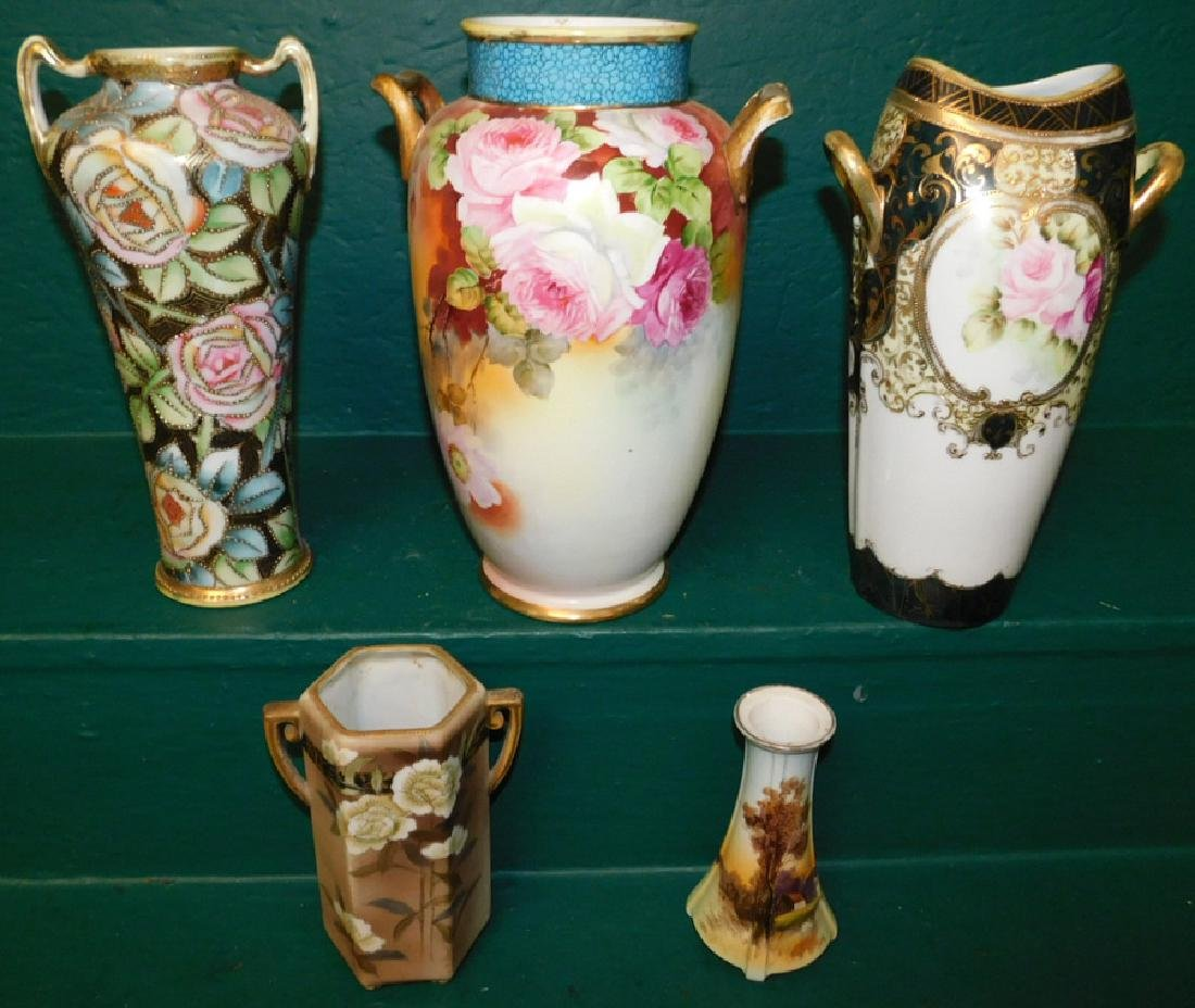 5 pieces of hand painted Nippon