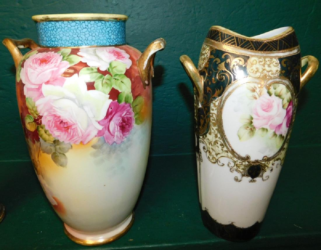 5 pieces of hand painted Nippon - 2