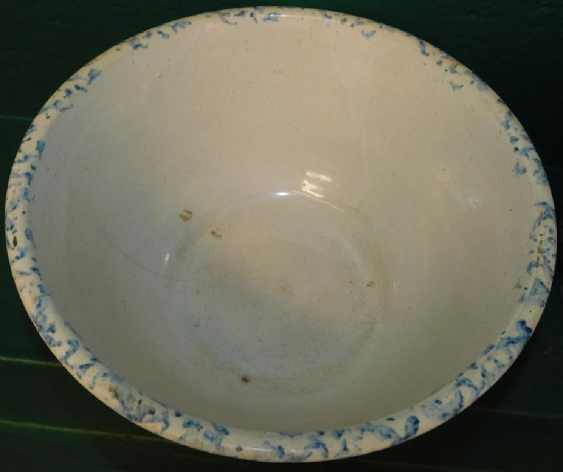 Salt glaze spatterware pitcher and bowl - 2