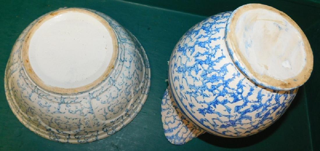 Salt glaze spatterware pitcher and bowl - 4
