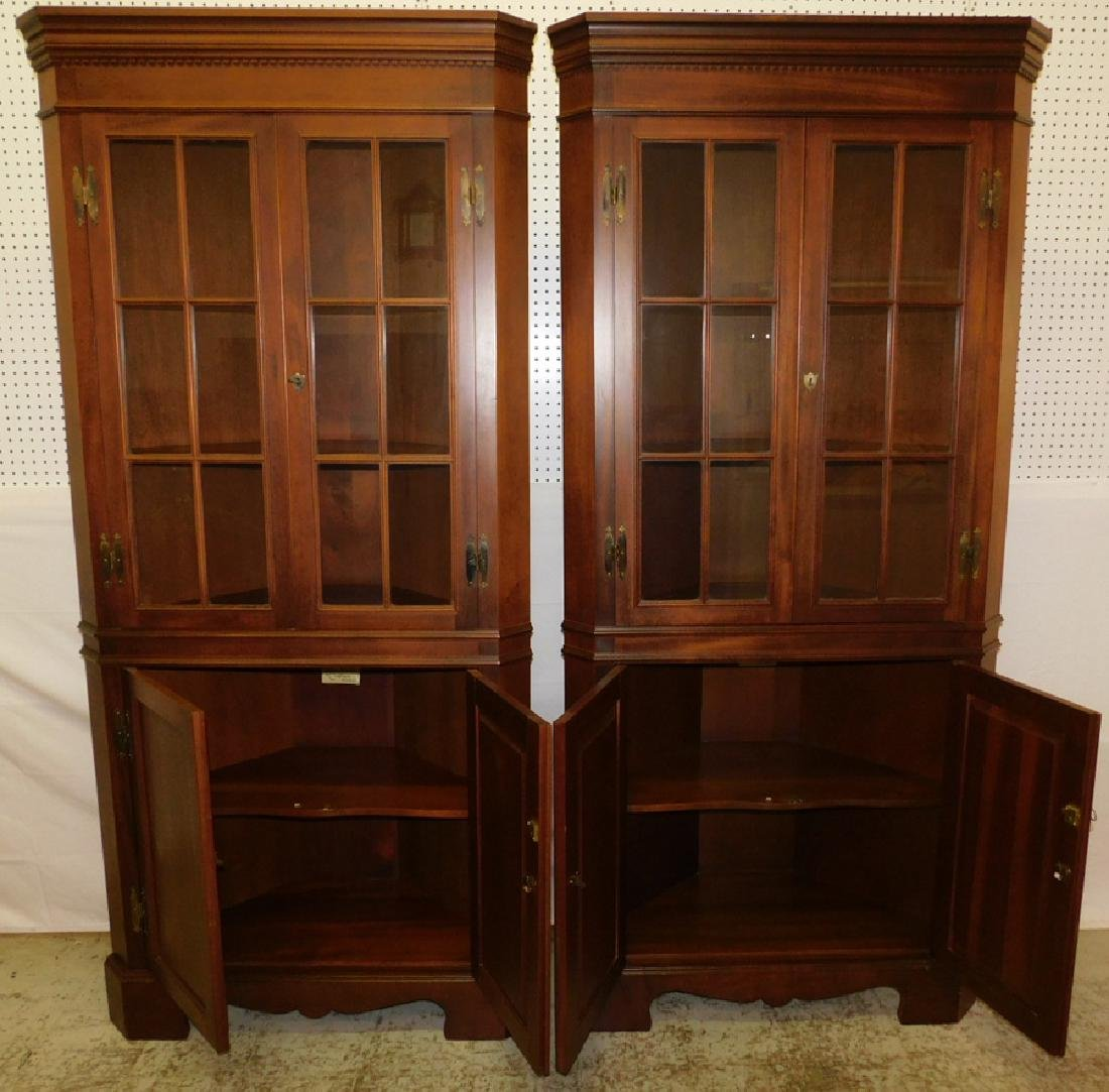 Pr Craftique gl front & mah corner cupboards - 2