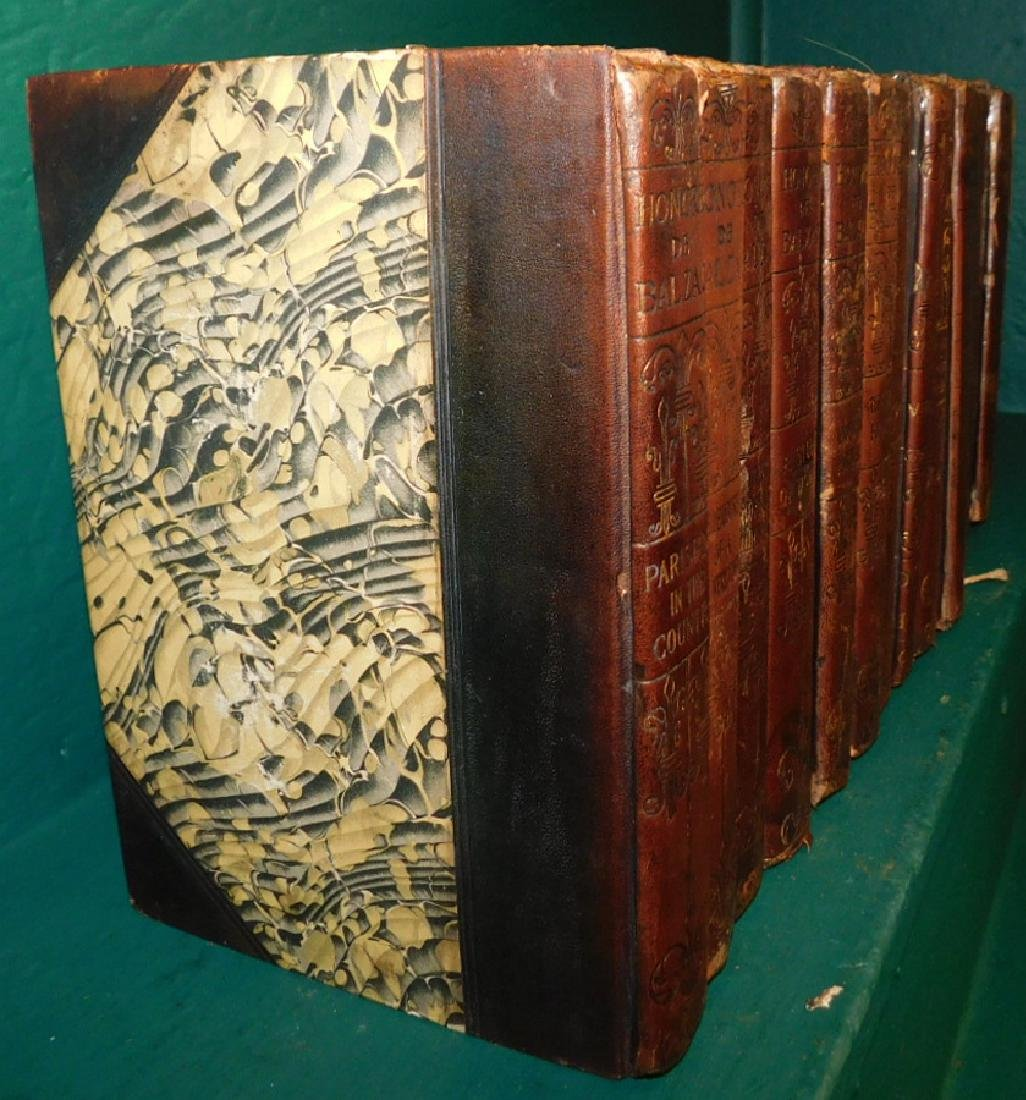14 leather bound books in as found condition - 2