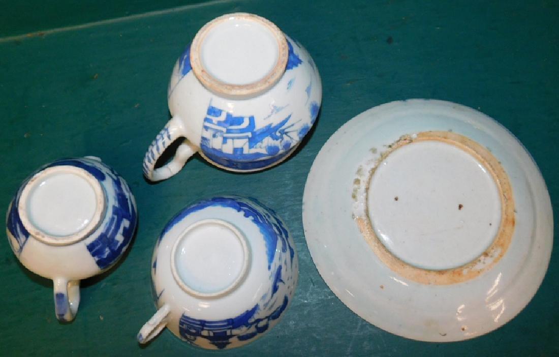 4 19th C Canton items - 2