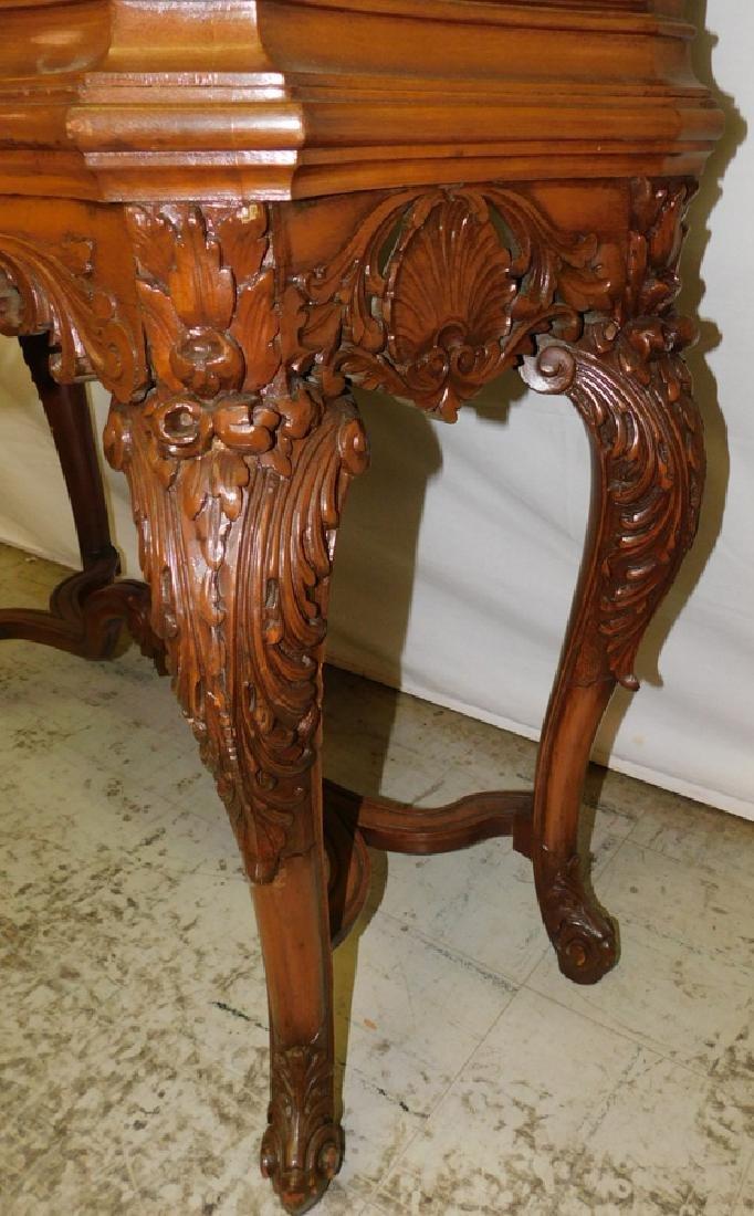 Bowfront plum pudding mahogany Fr cabinet - 2