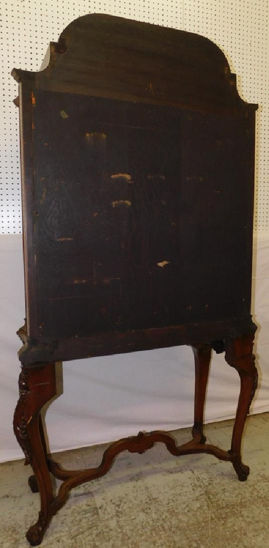 Bowfront plum pudding mahogany Fr cabinet - 5
