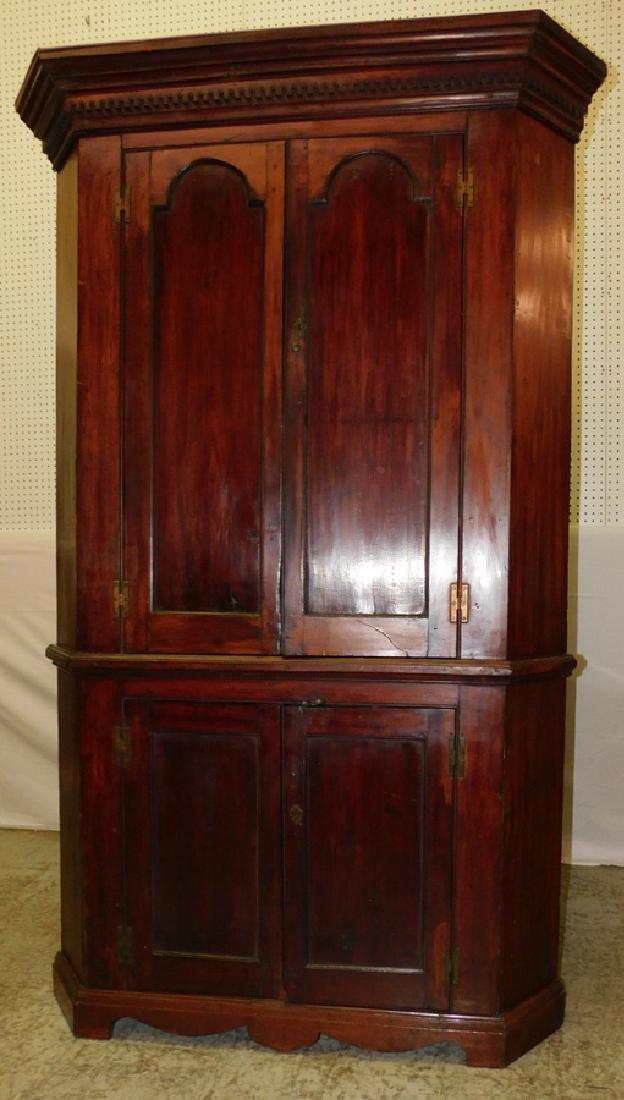 Paneled door cherry corner cupboard