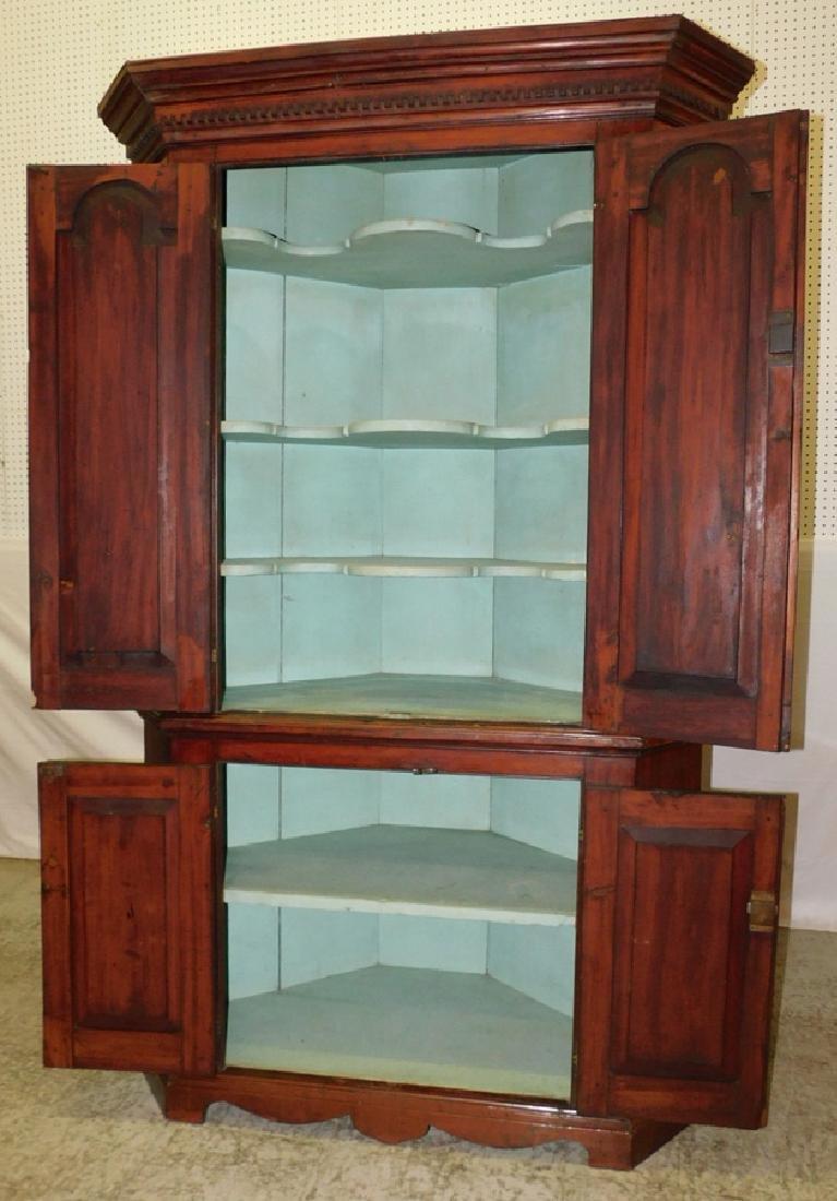 Paneled door cherry corner cupboard - 2