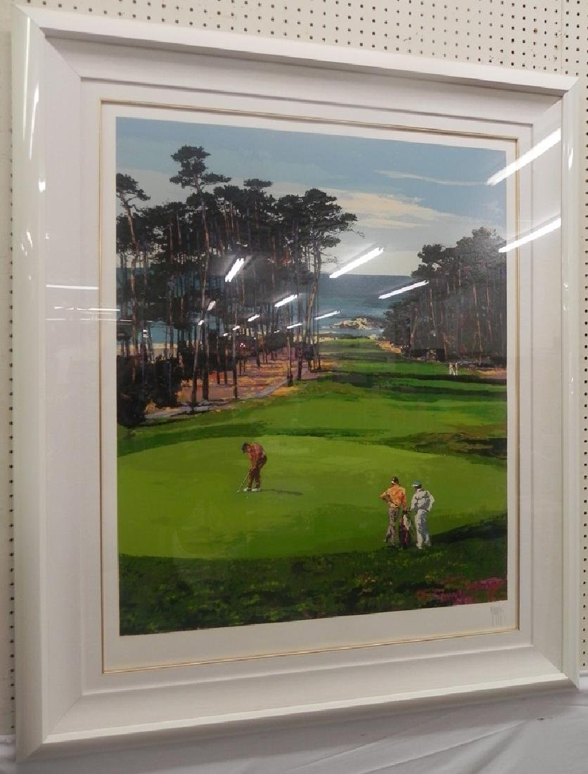 Modern golf print or painting signed