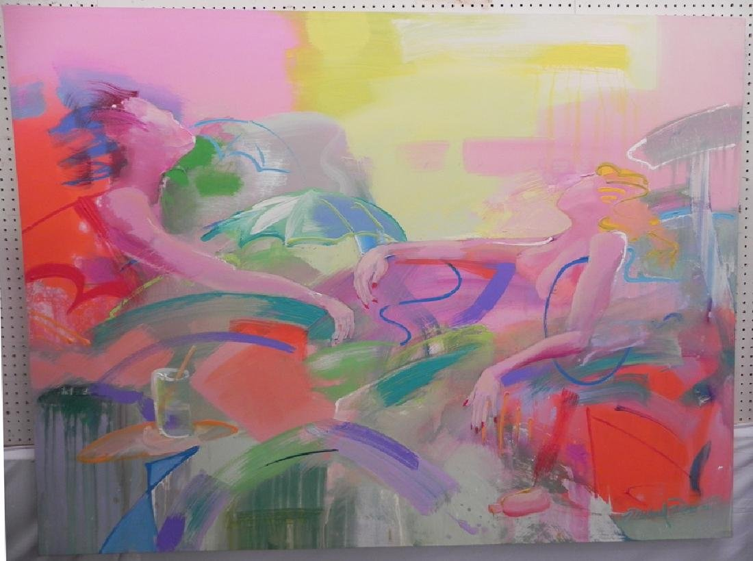 Modern painting on canvas, signed Michael Ross