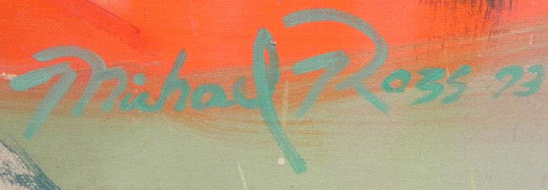 Modern painting on canvas, signed Michael Ross - 2